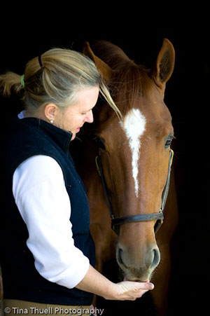 Alison sharing a moment with Quest