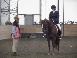 Pep talk before Dressage Test